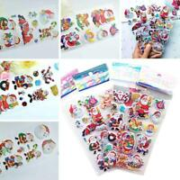 5pcs 3D puffy Stickers CHRISTMAS NEW YEAR SANTA CLAUS winter sledge deer