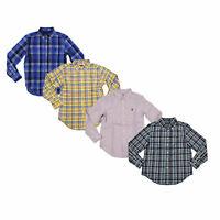 Polo Ralph Lauren Boys Buttondown Shirt Long Sleeve Pony Logo Plaid New M L Xl
