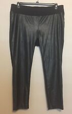 (NWT) INC Womens Plus Size 20W Black Faux Leather Skinny Pull On Pants