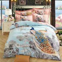 3D Orange Peacock ZHUA3533 Bed Pillowcases Quilt Duvet Cover Set Queen King Zoe