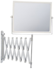 Swivel Wall Mount Two-Sided Mirror w/ 5x Magnification Extension 30 Inch Chrome