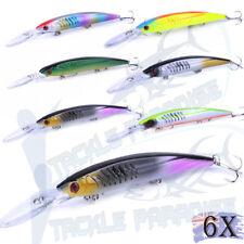 "6x Wahoo Trolling Fishing Lures 6"" Hardbodies Kingfish GT Tuna Tackle Lure Bait"