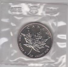 Coin 1989 Canada maple leaf silver $5 dollar proof in original Royal Bank bag