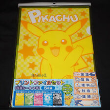Pokemon BW A4 file folder set of 5 Reshiram Zekrom Snivy Pikachu... NEW & SEALED