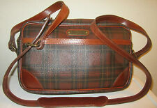 POLO RALPH LAUREN VTG BLACkWATCH Red Tartan Plaid Cross body Shoulder Bag Auth