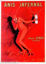 1900's Anis Infernal Devil Wine French France Spirits Advertisement Art Poster
