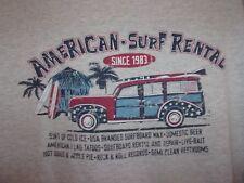 Woody Wagon n Surfboard gray American Surf Rental L t shirt