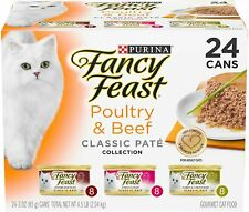 New listing Purina Fancy Feast Classic Pate Collection Feast Adult Canned Wet Cat Food 24can