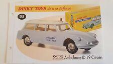 Dinky Toys Atlas - Fascicule SEUL de la Citroën ID 19 Ambulance (Booklet only)