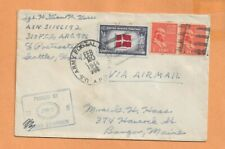 WORLD WAR II MILITARY MAIL APO 986 CENSORED FEB 1944
