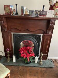 Antique Fireplace Mantel & Surround