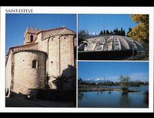 SAINT-ESTEVE (66) PISCINE Circulaire , EGLISE & LAC
