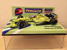 Minichamps 1/43 F Alonso minardi Fondmetal M02 Fiorano Test de agosto de 2000