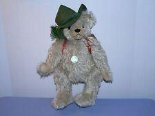 Happy Wanderer teddy bear German mohair Max Hermann musical tagged vintage