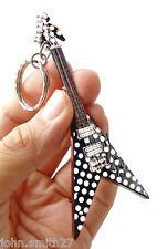 "Randy Rhoads Fly V Polka Dot 4"" Miniature Guitar Fridge Magnet Keychain"