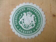 (32867) Siegelmarke - Polizeidirection Dresden