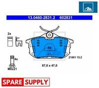 BRAKE PAD SET, DISC BRAKE FOR MITSUBISHI VOLVO ATE 13.0460-2831.2