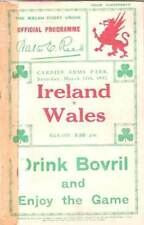 WALES v IRELAND 1932 RUGBY PROG JBG THOMAS COLLECTION