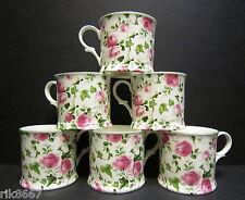Set Of 6 Ivy Rose Clear Small English Fine Bone China Mugs Cups By Milton China