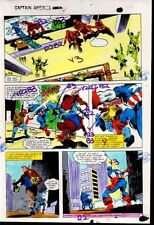 1981 Gene Colan Captain America Marvel Comics original color guide art page 29 Comic Art