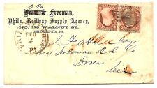 Philadelphia Railway Supply Company Feb 2 c1857, pair of Sc. 26 (type III)