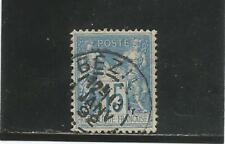 FRANCE n° 90 Sage 15c bleu oblitéré / cachet sup 13 janv 92