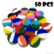 50 5ml Silicone Wax Jar Containers Nonstick Mixed color New 5 ml wholesale lot