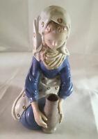 "Vintage Andrea by Sadek  Hand Painted Porcelain Girl With Jug figurines #7852 8"""
