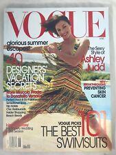 VOGUE MAGAZINE JUNE 2002 ASHLEY JUDD COVER BY MARIO TESTINO LIKE NEW CONDITION