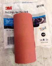 """3M red 5"""" disk sandpaper 100 sheets link roll  400 grit"""