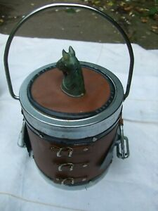 Vintage Horseracing themed biscuit barrel complete with stirrups
