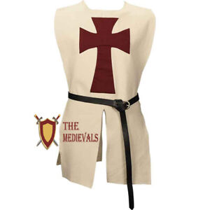 Kids Knights Templar Tabard Medieval Renaissance cotton Larp CostumeTunic