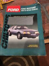 Chilton Repair Manual 1989 - 1992 Ford Mustang