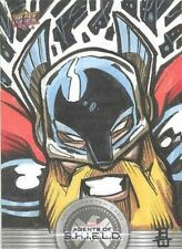 2019 Agents Of S.H.I.E.L.D. Compendium Brandon Warren Thor Sketch Card! RARE!