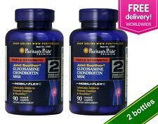 Puritan's Pride Triple Strength Glucosamine Chondroitin MSM 90 Caplets 2 PACK