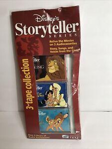 Disney's Storyteller Series 3-tape Collection The Lion King Bambi & Aladdin New!