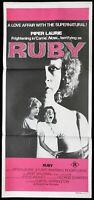 RUBY Original Daybill Movie Poster Piper Laurie Stuart Whitman Curtis Harrington