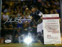 MIKE ZUNINO Autograph 8x10 SEATTLE MARINERS JSA COA
