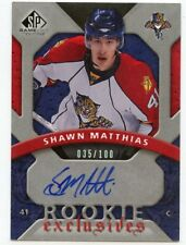 08-09 SP GAME-USED ROOKIE EXCLUSIVES AUTOGRAPH AUTO SHAWN MATTHIAS 35/100 *44852