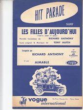 """LIVRET PARTITION RICHARD ANTHONY """"LES FILLES D'AUJOURD'HUI"""" & PETULA CLARK"""