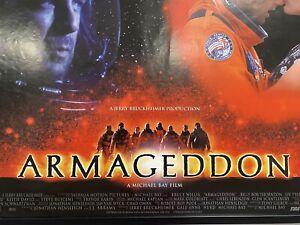 Armageddon VERY RARE, Double Sided Original UK Quad Sheet Movie Poster
