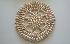 Cowrie Shell Placemat 9in Coastal Decor Table Setting Accent Mat