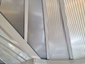 Reflective CoolKote Polycarbonate Conservatory Roof Film - DIY Easy Fit - By Mtr