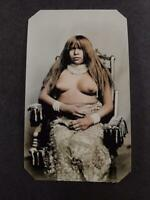 Sixth-Plate Native American Yuma Indian Tintype C2447RP