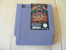 GENUINE NINTENDO NES GAME - SWORDS AND SERPENTS - CARTRIDGE ONLY