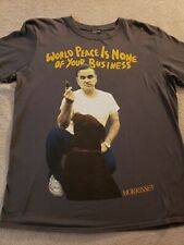 Morrissey European Tour T-shirt World Peace Is None Of Your Business