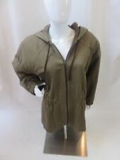 YVES SAINT LAURENT Brown Hooded 100% Cotton Zip Up Jacket Size Euro 44