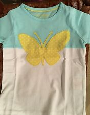 NWT 2/3 Mini Boden Butterfly Applicade Color Block Tee