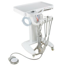 Portable Moveable Dental Self Delivery Unit Cart Treatment Equipment Desk 4 Hole