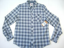 VINTAGE RED CHECK NAVY BLUE WHITE XL BUTTON DOWN SHIRT MENS NWT NEW